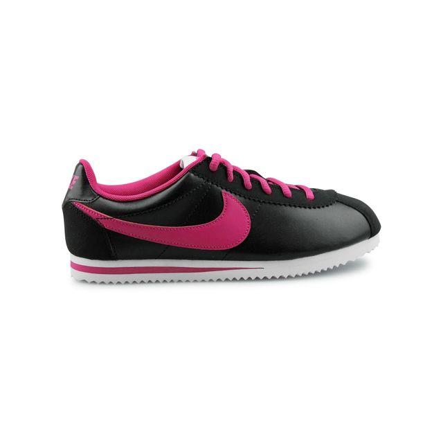 34db7d35b28 Nike - Cortez Leather Junior Noir 749502-001 - pas cher Achat ...