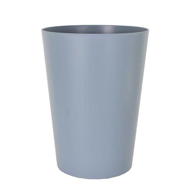 artevasi cache pot ou pot de fleur rond haut couleur bleu ardoise 30 cm hauteur 40 cm pas. Black Bedroom Furniture Sets. Home Design Ideas