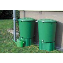 GARANTIA - Kit de 2 cuves de récupération d'eau de pluie - 510 litres - Vert
