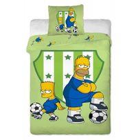 The Simpsons - Parure de lit Bart Homer Simpsons Football