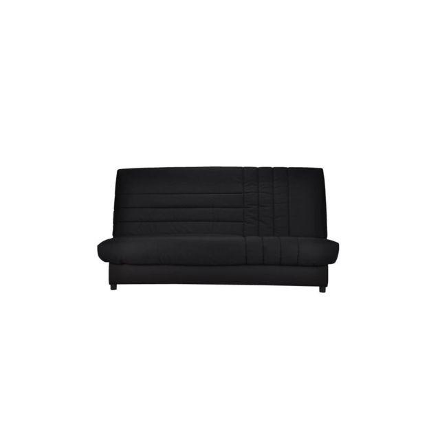 Bultex Beija Banquette Clic-clac 3 Places - Comfort - L 192 X P 95 Cm - Tissu Noir