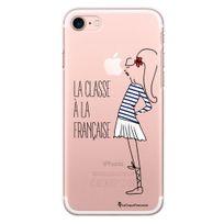 La Coque Francaise - Coque rigide transparent Classe à la Francaise pour iPhone 7