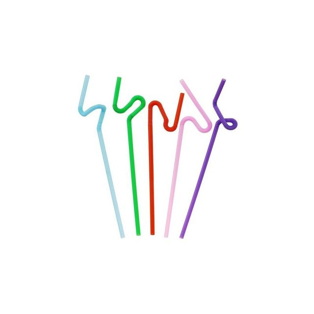 Marque Generique Lot 500 pailles plastiques multicolores 26 cm