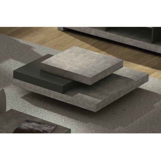 inside 75 slate table basse faon bton gris 30cm x 90cm pas cher achat vente tables manger rueducommerce