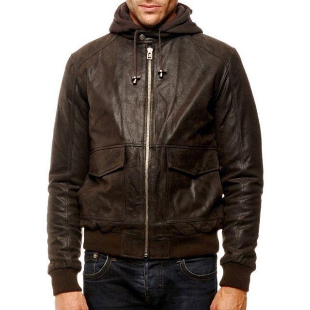 26dae1e4608be Arturo - Blouson cuir Couleur - marron, Taille Homme - L - pas cher ...