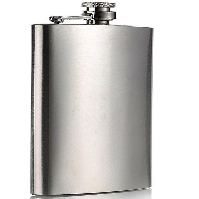 Touslescadeaux Flasque Alcool Inox Brossé - 200 ml