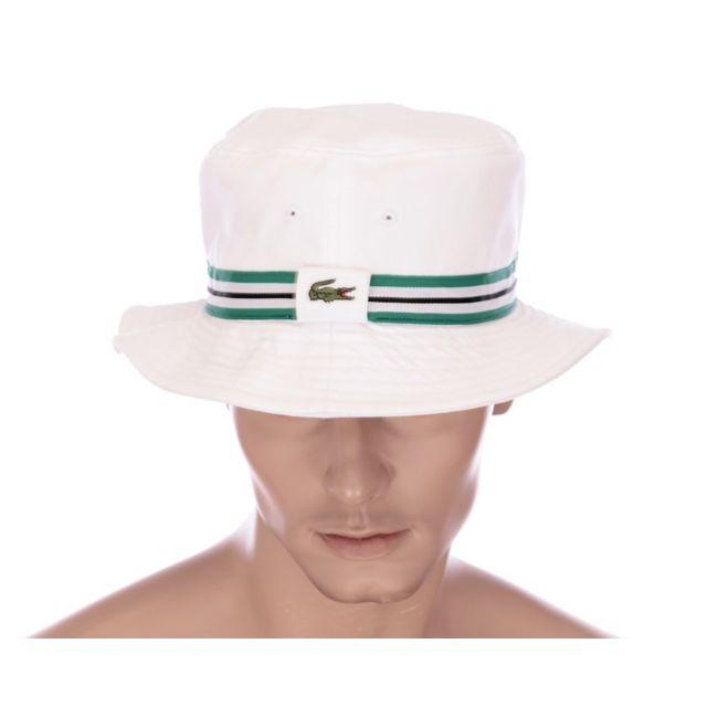 3c1e542397 Lacoste - Bob blanc arbuste homme Rk8474 - pas cher Achat / Vente  Casquettes, bonnets, chapeaux - RueDuCommerce