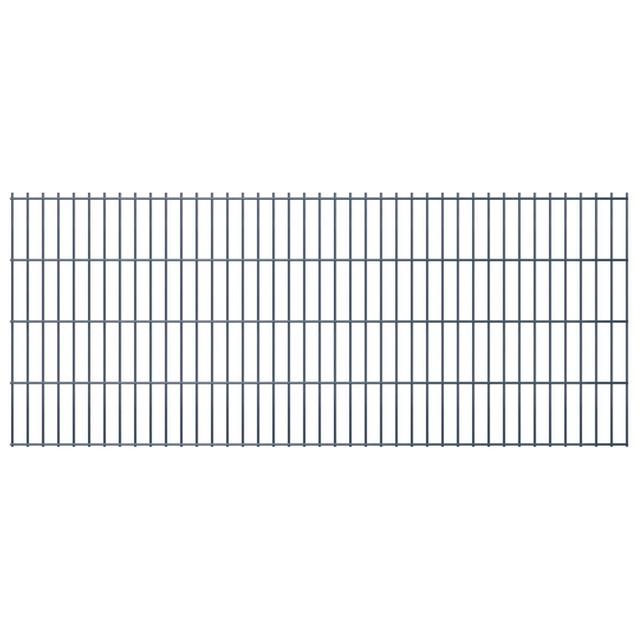 Vidaxl Panneaux de clôture 2D pour jardin 2008x830 mm 46 m gris
