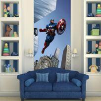 Bebe Gavroche - Poster porte Captain America Avengers Marvel 90X202 Cm
