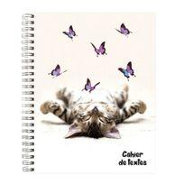 Exacompta - Cahier de textes Spirales - 17x22 cm Chat Papillons Fabriqué en France