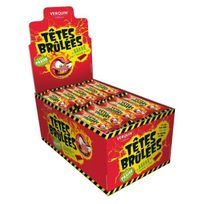Verquin - 150 Bonbons Sticks Tetes Brûlées Fraise