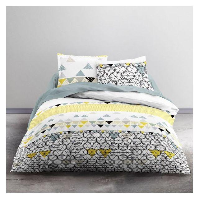 today parure de couette coton 240x260 mawira ametrine pas cher achat vente housses de. Black Bedroom Furniture Sets. Home Design Ideas