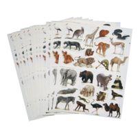 Maildor - gommette animaux sauvage - blister de 312