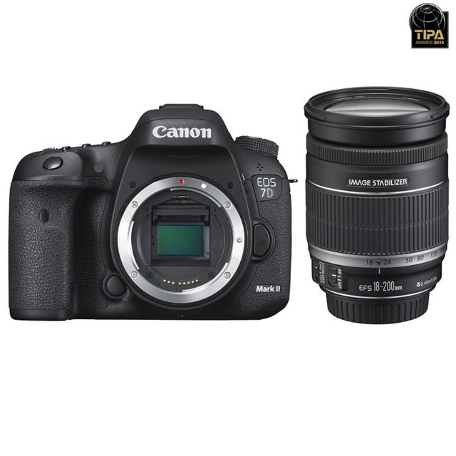 Canon Eos 7D Mark Ii + W-e1 + Ef-s 18-200mm f/3-5-5.6 Is Garanti 3 ans