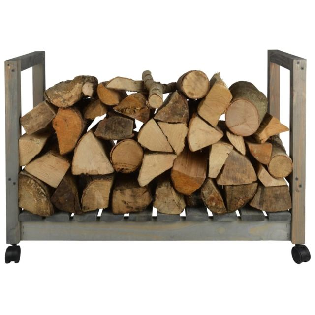 Icaverne Sacs et paniers à bûches famille Support de stockage du bois de chauffage sur roues