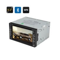 Auto-hightech - Autoradio 2 din écran 6,2 pouces tactile Gps Lecteur Dvd,interface 3D, Radio Fm, Bluetooth, Windows