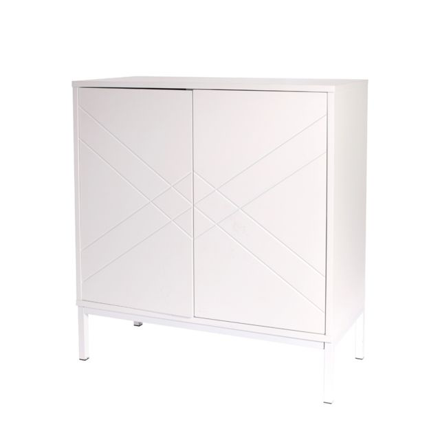 The Concept Factory Commode blanche 2 portes
