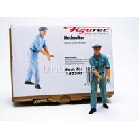 Figutec - Figurines Mecanicien Auto Union - Pousse la voiture - 1/18 - 180303