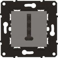 Arnould - Espace évolution Prise téléphone 8 contacts en T avec enjoliveur magnésium a assembler