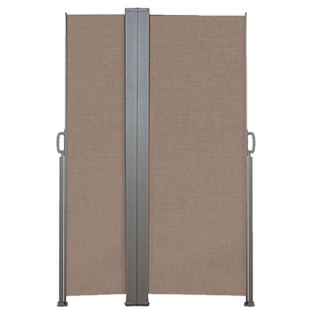 inkazen paravent r tractable double taupe pas cher achat vente claustras rueducommerce. Black Bedroom Furniture Sets. Home Design Ideas