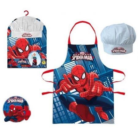 Spiderman - Set Tablier + Toque Petit Chef - Spider Man Bleu - pas ...