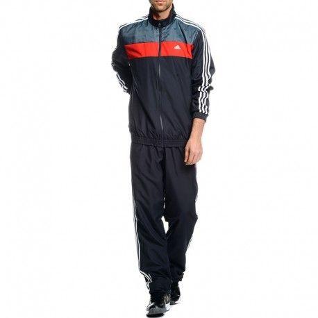 Détails sur Survêtement TS DASSLER Rouge Entrainement Homme Adidas Noir