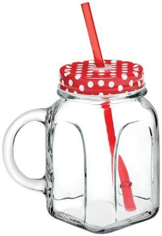 Lebrun - Mug 45 cl rouge Mug Avec Paille