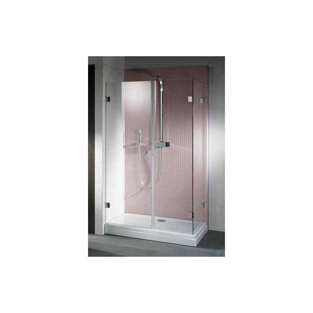 riho porte battante de douche universelle scandic s204 100x80x200 cm en verre clair pas cher. Black Bedroom Furniture Sets. Home Design Ideas