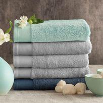 Santens - Serviette de toilette coton/bambou 650gr/m2 50x100cm Bamboo - Cément