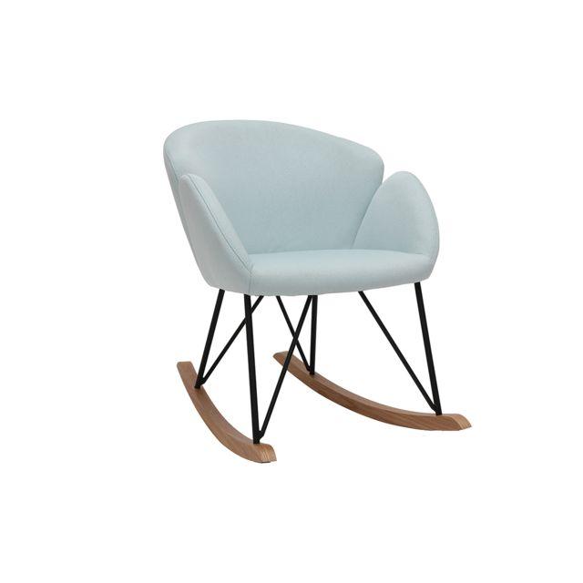 Miliboo & Stephane Plaza Rocking chair design tissu menthe à l'eau Rhapsody - Miliboo & Stéphane Plaza
