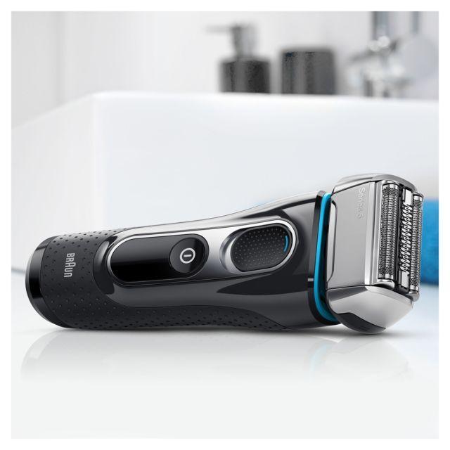 BRAUN Rasoir électrique Série 5 - 5195 CC - Noir Wet & Dry - 100 % étanche - Tondeuse de précision - Loquet multi-têtes - Batterie rechargeable Li-ion - Autonomie : 50 min - Temps de charge : 60 min - Affichage LED.