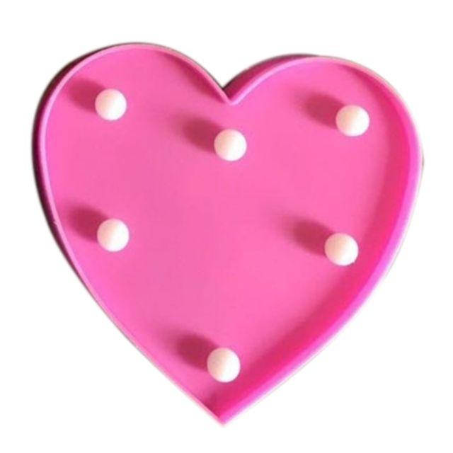 Wewoo Forme de coeur créatif lumière de décoration blanche chaude Led, 2 x piles aa alimenté fête fête table table mariage lam
