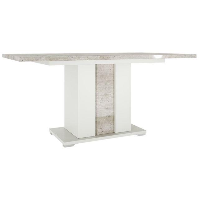 Altobuy Gemma - Table de Séjour Rectangulaire avec Rallonge