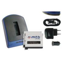 mtb more energy® - Chargeur USB/Auto/Secteur, + 2x Batteries Ahdbt-401 pour GoPro Hero4 Black, Silver, Surf & Music Edition