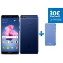 HUAWEI - P Smart - Bleu + Flip View Cover P Smart - Bleu