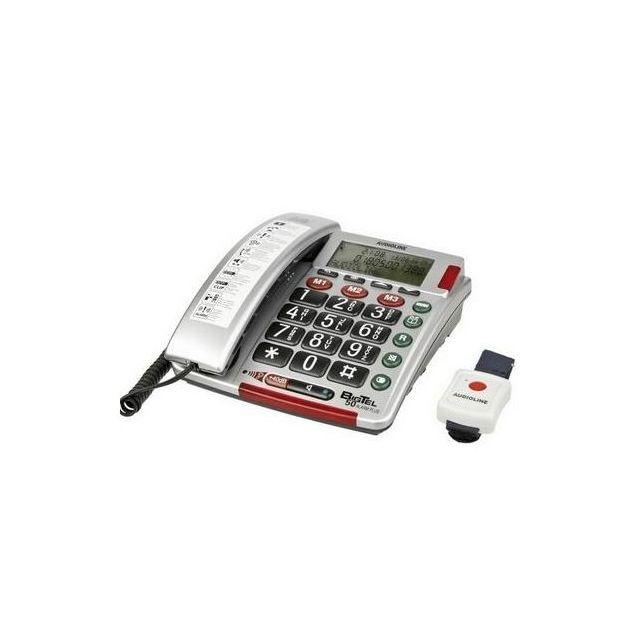 audioline t l phone bigtel 50 592452 pas cher achat vente t l phone fixe filaire. Black Bedroom Furniture Sets. Home Design Ideas