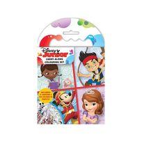 Disney Junior - Set de coloriage de voyage Carnet et Crayons