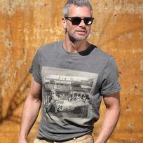 Gulf - T-shirt Car 20 gris pour homme taille Xxl