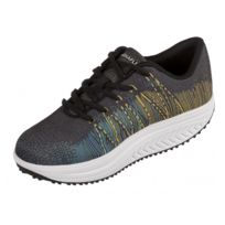 Drainaflex - Basket Balancing Shoes - semelle Marche Active - noir et jaune  - Taille -