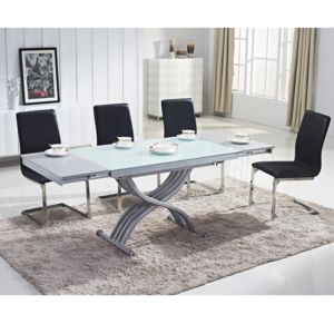 ego design table basse relevable reality verre blanc 100cm x 76cm x 60cm pas cher achat. Black Bedroom Furniture Sets. Home Design Ideas