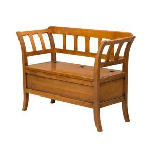 artigiani veneti riuniti banc coffre d 39 entr e classique en bois merisier 44cm x 118cm pas. Black Bedroom Furniture Sets. Home Design Ideas