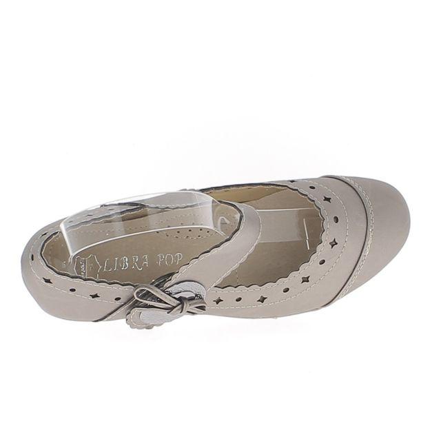 Chaussures femme rouges confort talon compensé de 4cm liseré