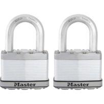 Master Lock - Masterlock Lot de 2 cadenas Excell 64mm anti-intempéries