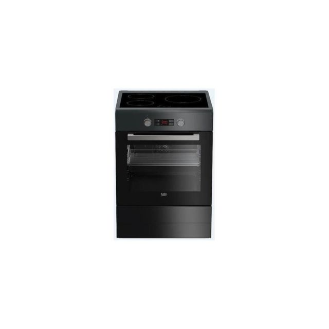 Beko Fse58300acs - Cuisiniere Table Induction - 3 Zones - Four Electrique - Catalyse - 60 L - A - L 50 X H 85 Cm