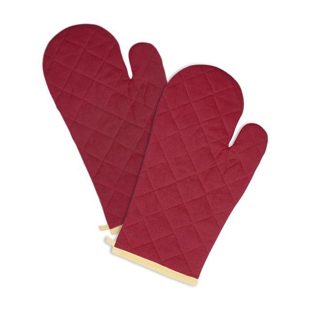 hobby tech paire de gants de cuisine manique anti chaleur pour four couleur bordeau pas cher. Black Bedroom Furniture Sets. Home Design Ideas