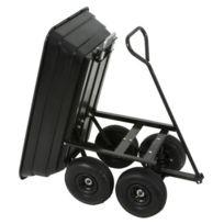 Varanmotors - Chariot de Jardin à Benne Basculante, Chariot Transporteur remorque à Benne Charge 250Kg Max