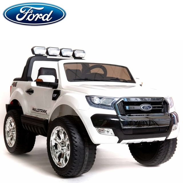 ford nouvelle ranger cran lcd 2x12v voiture quad 4x4 lectrique enfant blanc pack luxe. Black Bedroom Furniture Sets. Home Design Ideas