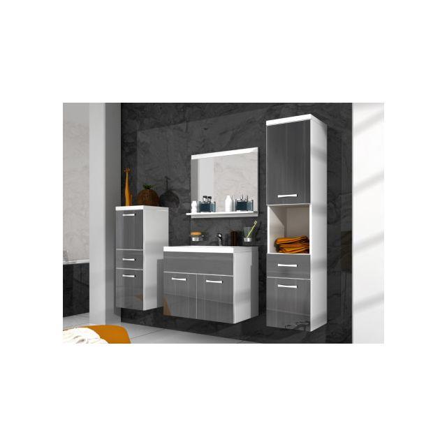 SHOWER DESIGN Ensemble CLAUDIA - meubles de salle de bain - laqué gris effet marbré