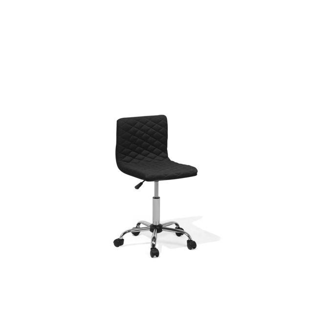 BELIANI Chaise de bureau noire ORLANDO - noir