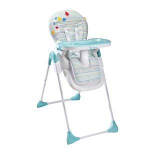 Badabulle chaise haute easy blue grey bleu gris pas for Badabulle chaise haute